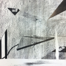 FORMS OF CONSTRUCTION 2 - lead pencil on paper - 50x65cm