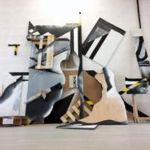 installation - painting - wood