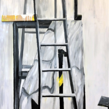 painting, object, ladder, art