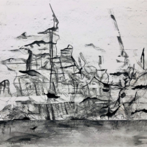 The foam of the see, pencil on paper, 140x110cm