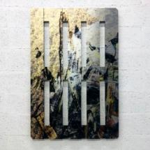 Pallet sargassum - printed on aluminium - 80x120x3cm