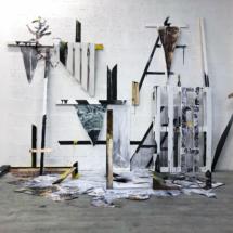 studio view - artist - installation
