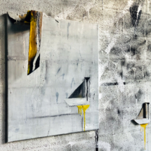 Painting Wall - 61x84x15cm - mixed media on canvas and wood