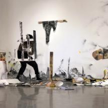 Performance of Smail Kanouté - 19th december 2020, Galerie Dix9 Hélène Lacharmoise