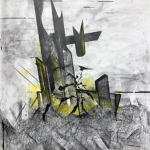 drawing - ruins